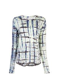 Женская разноцветная футболка с длинным рукавом с принтом тай-дай от Proenza Schouler