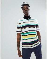 Мужская разноцветная футболка с круглым вырезом в горизонтальную полоску от ASOS DESIGN