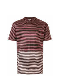 Мужская разноцветная футболка с круглым вырезом в горизонтальную полоску от Lanvin