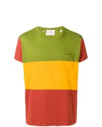 Мужская разноцветная футболка с круглым вырезом в горизонтальную полоску от Levi's Vintage Clothing