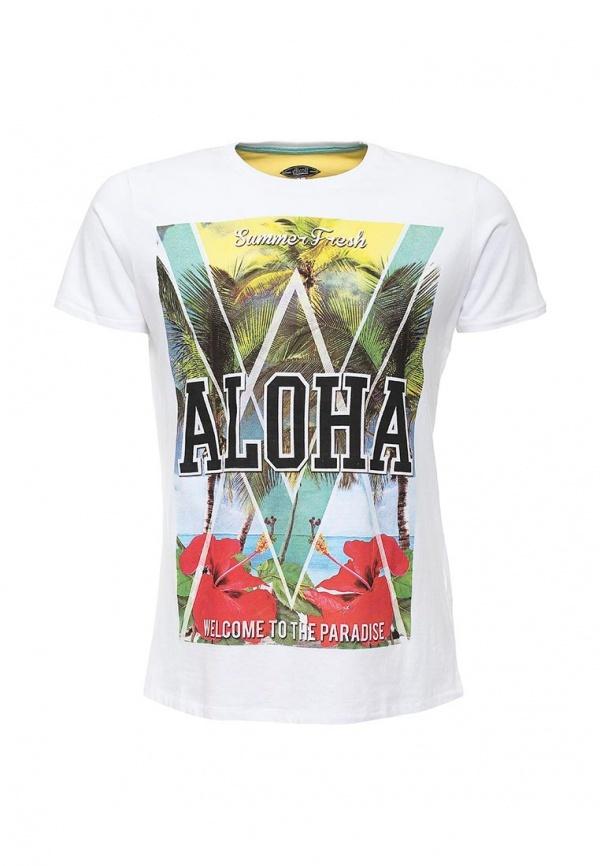 Мужская разноцветная футболка с круглым вырезом с принтом от Alcott
