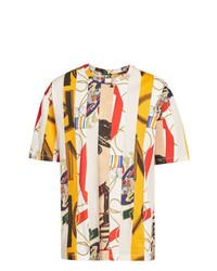 Мужская разноцветная футболка с круглым вырезом с принтом от Burberry