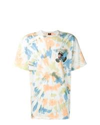 Мужская разноцветная футболка с круглым вырезом с принтом от Stussy