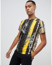 Мужская разноцветная футболка с круглым вырезом с принтом от Versace Jeans