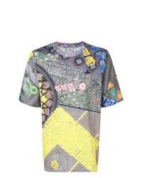 Мужская разноцветная футболка с круглым вырезом с принтом от Vivienne Westwood MAN