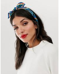 Женская разноцветная шелковая бандана с принтом от ASOS DESIGN