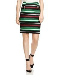 Разноцветная юбка-карандаш в горизонтальную полоску