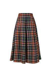 Разноцветная юбка-миди в шотландскую клетку