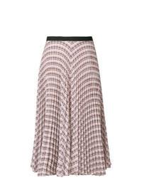 Разноцветная юбка-миди с геометрическим рисунком