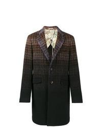 Разноцветное длинное пальто