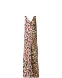 Разноцветное платье-макси с цветочным принтом от Alberto Biani