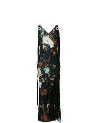 Разноцветное платье-макси с цветочным принтом от Antonio Marras