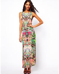 Разноцветное платье-макси с цветочным принтом от Asos