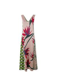 Разноцветное платье-макси с цветочным принтом от Circus Hotel