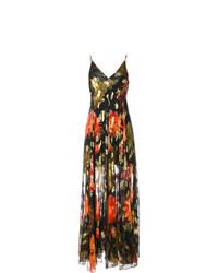 Разноцветное платье-макси с цветочным принтом от Haney