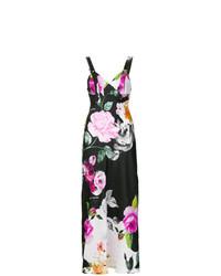 Разноцветное платье-макси с цветочным принтом от Off-White