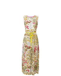 Разноцветное платье-макси с цветочным принтом от RED Valentino