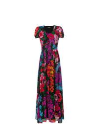 Разноцветное платье-макси с цветочным принтом от Twin-Set