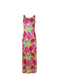 Разноцветное платье-макси с цветочным принтом от Ultràchic