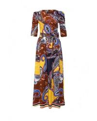 Разноцветное платье-макси от MadaM T