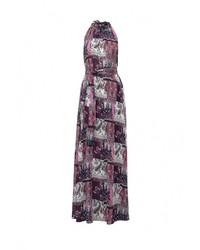 Разноцветное платье-макси от Tutto Bene