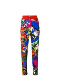 Разноцветные джинсы скинни