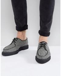 Разноцветные кожаные туфли дерби