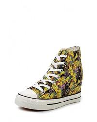 Разноцветные кроссовки на танкетке от Mimoda