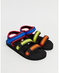 Мужские разноцветные сандалии из плотной ткани от ASOS DESIGN