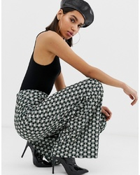 Разноцветные широкие брюки с геометрическим рисунком от Missguided