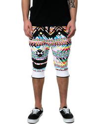 Разноцветные шорты с принтом