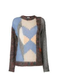 Разноцветный вязаный свитер