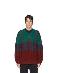 Мужской разноцветный вязаный свитер от Y/Project