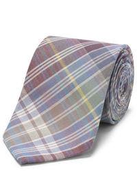 Разноцветный галстук в шотландскую клетку