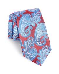 """Разноцветный галстук с """"огурцами"""""""