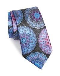 Разноцветный галстук с принтом