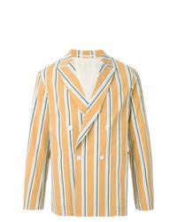 Мужской разноцветный двубортный пиджак в вертикальную полоску от TOMORROWLAND