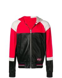 Мужской разноцветный кожаный худи от Givenchy