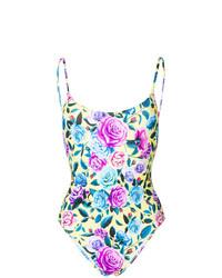 Разноцветный купальник с цветочным принтом от MC2 Saint Barth