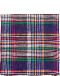 Разноцветный нагрудный платок в шотландскую клетку