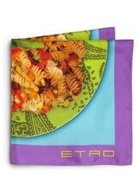 Разноцветный нагрудный платок с принтом