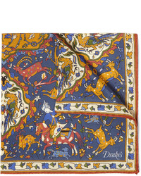 Разноцветный нагрудный платок с принтом от Drakes