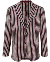 Мужской разноцветный пиджак в вертикальную полоску от Etro