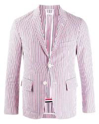Мужской разноцветный пиджак в вертикальную полоску от Thom Browne