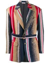 Мужской разноцветный пиджак в вертикальную полоску от Walter Van Beirendonck Pre-Owned