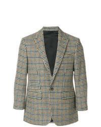 """Разноцветный пиджак с узором """"гусиные лапки"""""""