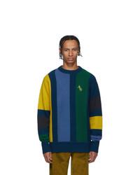 Мужской разноцветный свитер с круглым вырезом от Aimé Leon Dore