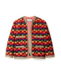 Женский разноцветный твидовый жакет от Gucci