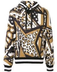Мужской разноцветный худи с принтом от Dolce & Gabbana