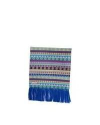 Разноцветный шарф в горизонтальную полоску